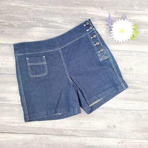 Lauren Jeans Co. Denim Sailor Shorts